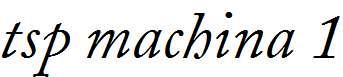 tsp-machina-1-Italic