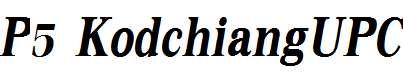 P5-KodchiangUPC-Bold-Italic
