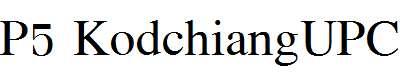 P5-KodchiangUPC