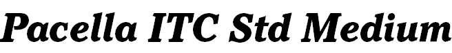 Pacella ITC Std Black Italic