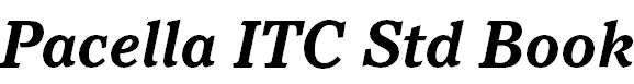 Pacella ITC Std Bold Italic
