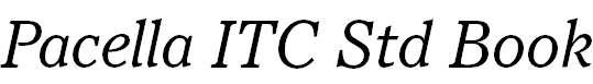 Pacella ITC Std Book Italic
