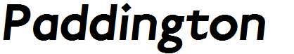 Paddington-Bold-Italic
