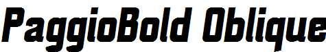 PaggioBold-Oblique
