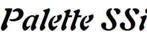 Palette-SSi-Bold-Italic
