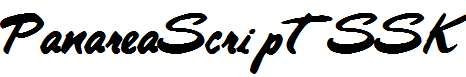 PanareaScriptSSK-Bold