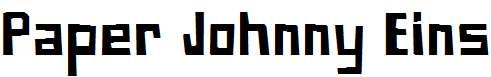 Paper-Johnny-Eins
