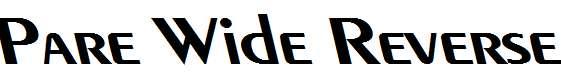 Pare-Wide-Reverse-BoldItalic