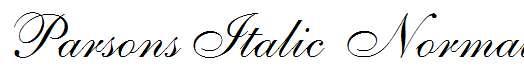 Parsons-Italic-Normal-