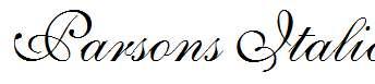Parsons-Italic