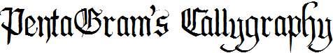 PentaGram's-Callygraphy