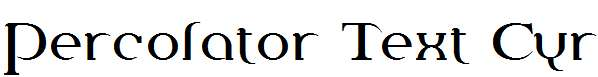 Percolator-Text-Cyr