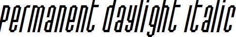 Permanent-daylight-Italic