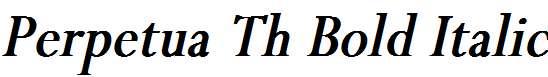 Perpetua-Th-Bold-Italic