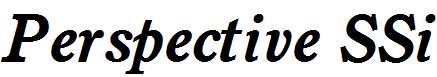 Perspective-SSi-Bold-Italic