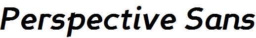 Perspective-Sans-Bold-Italic