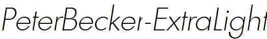 PeterBecker-ExtraLight-Italic
