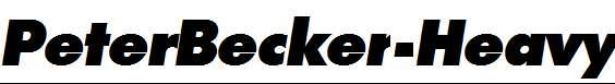 PeterBecker-Heavy-Italic