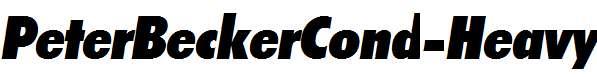 PeterBeckerCond-Heavy-Italic