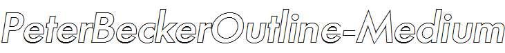 PeterBeckerOutline-Medium-Italic