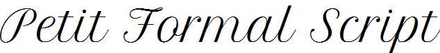 Petit-Formal-Script