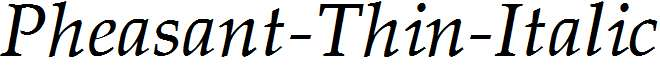 Pheasant-Thin-Italic