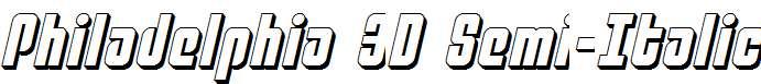 Philadelphia-3D-Semi-Italic