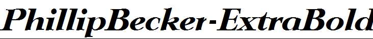 PhillipBecker-ExtraBold-Italic