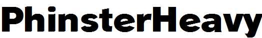 PhinsterHeavy-Regular