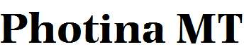 Photina-MT-Bold
