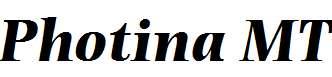 Photina-MT-Bold-Italic