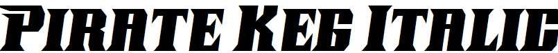 Pirate-Keg-Italic
