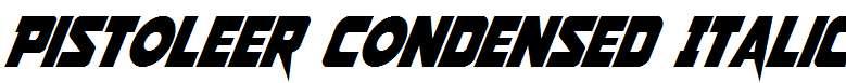 Pistoleer-Condensed-Italic