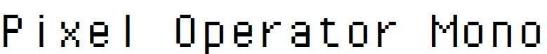 Pixel-Operator-Mono