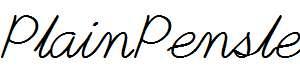 PlainPensle-Italic