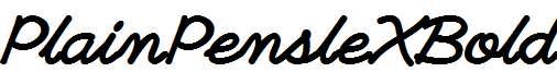 PlainPensleXBold-Italic
