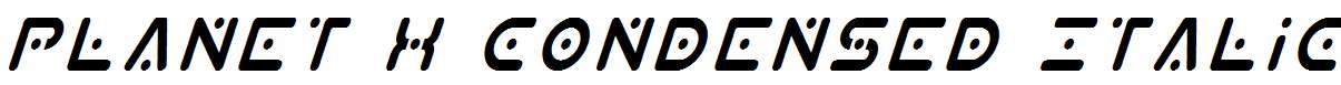 Planet-X-Condensed-Italic