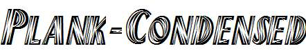 Plank-Condensed-Italic