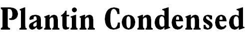 Plantin-BoldCondensed