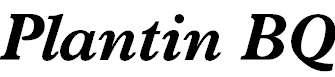 PlantinBQ-BoldItalic