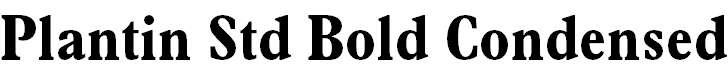 PlantinStd-BoldCondensed