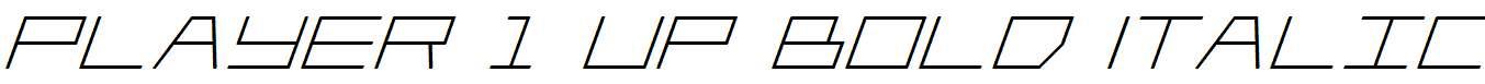 Player-1-Up-Bold-Italic