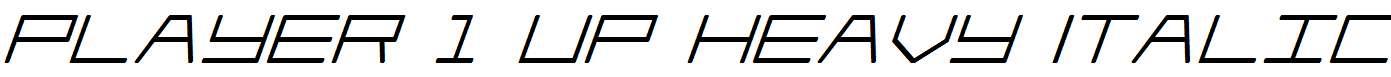 Player-1-Up-Heavy-Italic