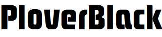 PloverBlack-Regular