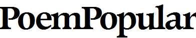 PoemPopular-Bold