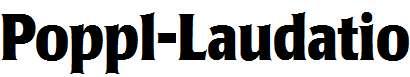 Poppl-Laudatio-Bold-Condensed