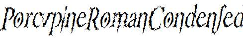 PorcupineRomanCondensed-Italic