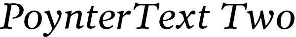 PoynterText-ItalicTwo