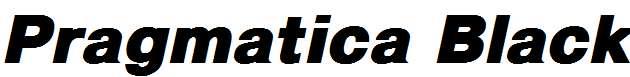 Pragmatica-Black-Italic