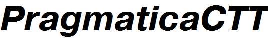 PragmaticaCTT-BoldItalic